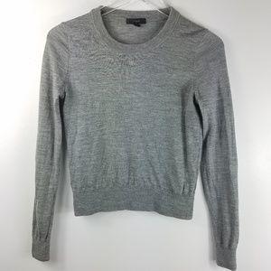 J Crew Merino Wool Tilly Sweater Heathered Gray